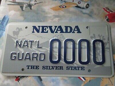 NATIONAL GUARD License Plate Nevada - Nevada National Guard