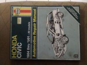 Haynes 1984 to 1991 Honda Civic repair manual