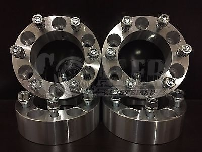 "Wheel Spacers 2"" Fit Dodge Ram 50 Aluminum Set of 4 Adapter 6x5.5 6 Lug Pickups"