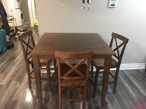 Bar style dining table