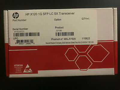 Brand New Genuine HP X120 1G SFP LC SX Transceiver