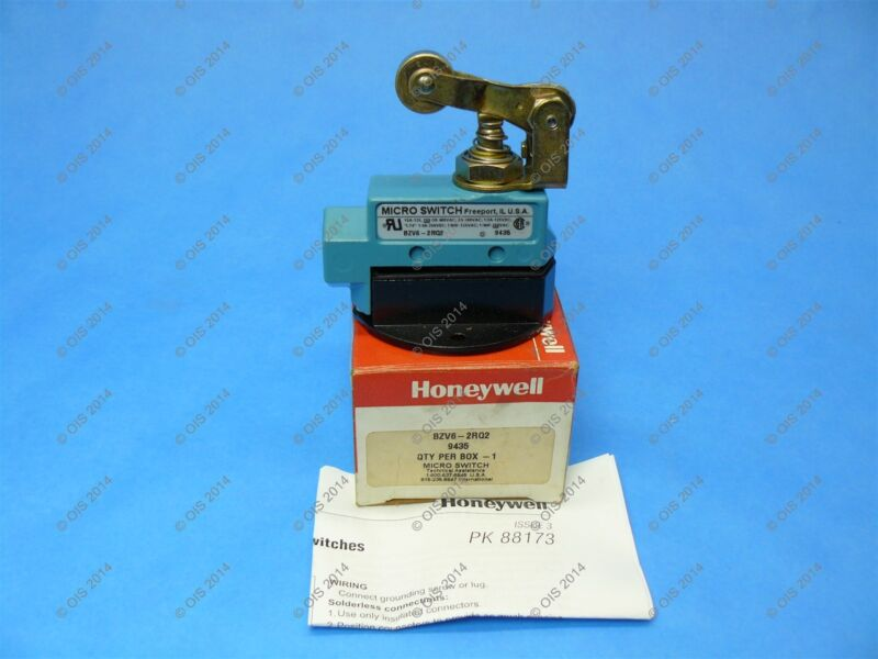 Micro Switch BZV6-2RQ2 Limit Switch Top Plunger 15 Amp 250VAC New