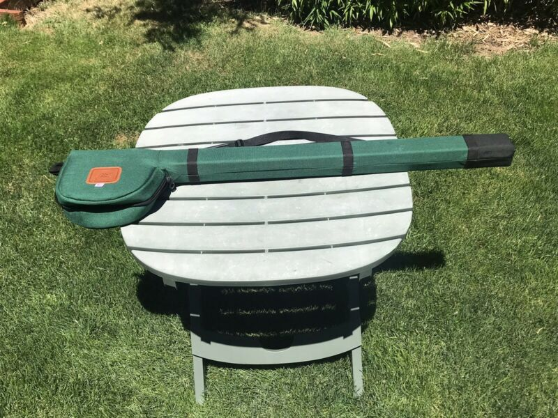 Abel Fly Rod Travel Case RARE W/Reel Pouch. Single 3 Piece Rod Up To 10'.