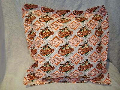 Baltimore Orioles Baseball Throw Pillow Covers/Stuffed w/Pillow Form & Washable