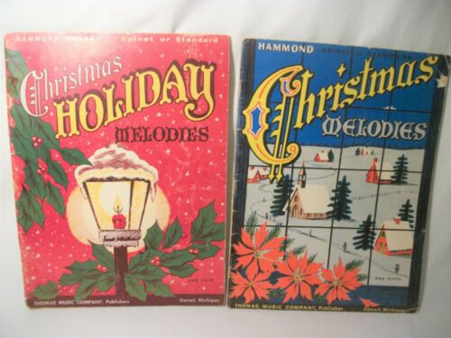 2 Vintage 1957 Christmas Holiday Melodies Sheet music song Books