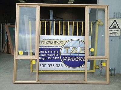 Timber Entry Frame With Awning Windows - 2407H X 2840W (Item 4233/13)