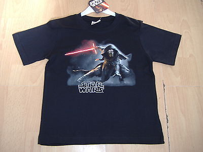 Boys Star Wars Tee Shirt T Shirt Short Sleeve Black Ages 3 4 5 6 7 8 9 10 Years