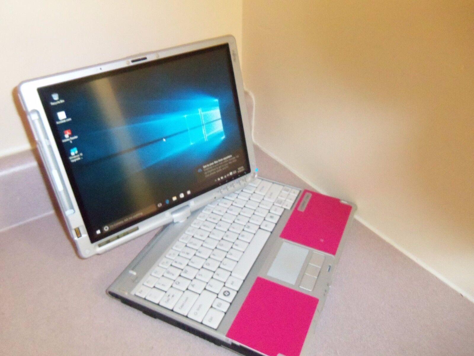 SUPER! WINDOWS10 WEBCAM HOT PINK Convertible Laptop&Tablet,2GHz,3GB,160GB,DVD+RW