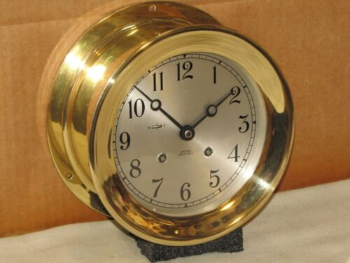 "CHELSEA VINTAGE SHIPS BELL CLOCK~6""DIAL~1952~KOREAN WAR~RESTORED"
