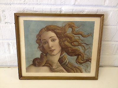 Vintage Antique Roberto Hoesch Print of Venus After Botticelli