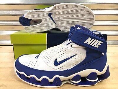 42815ad14f102a Nike Shox Ups Retro 05 Shoes White Royal Blue Chrome VC SZ 11.5 (  311738-142 )