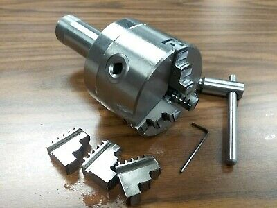 3 3-jaw Self-centering Lathe Chucks 5c Shank Arbor Adapter Extra Jaws 0303-5c