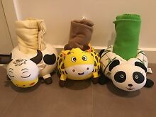 Soft cow panda and tiger with blanket rolled inside Patterson Lakes Kingston Area Preview