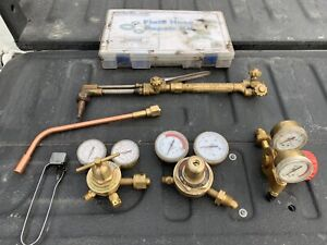 Torch, regulators, rose bud and repair kit