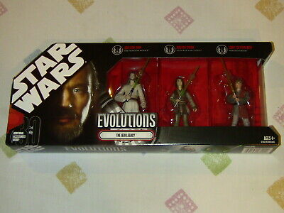 Hasbro Star Wars Evolutions The Jedi Legacy Action Figure Set of 3 NEW MIMB