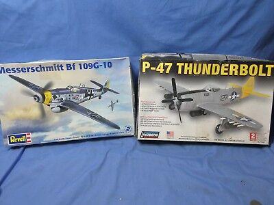 REVELL 1/48 MESSERSCHMITT Bf109G   LINDBERG P-47 THUNDERBOLT
