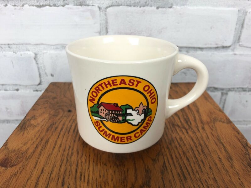 Vintage Boy Scout Northeast Ohio Summer Camp Coffee Cup Mug