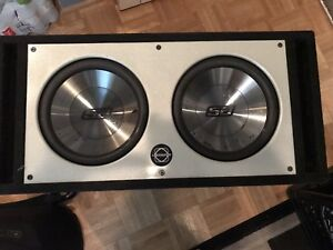 """2 12""""Phoenix gold subwoofers with box"""