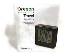 Oregon Scientific Travel Alarm Clock, White, RM511, Dual Alarms, Open Box