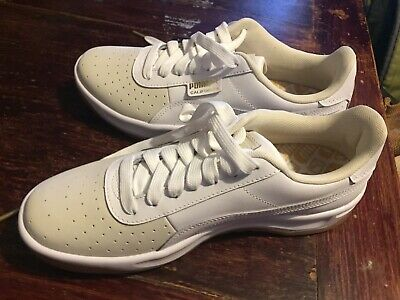 womens white California Exotic puma trainers size 6