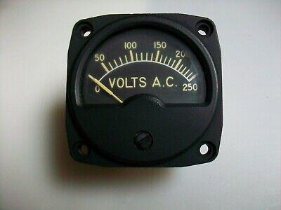 Weston  0-250 V. Ac. Panel Meter Nsn 6625-00-649-4001