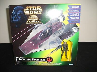 star wars power of the force A-WING & PILOT Boxed COMPLETE GOOD USED CONDITION