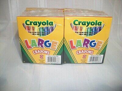 CRAYOLA LARGE CRAYONS, 12 BOXES OF 8 CRAYONS, NON-TOXIC, BINNEY & SMITH 52-0038 - Non Toxic Crayons
