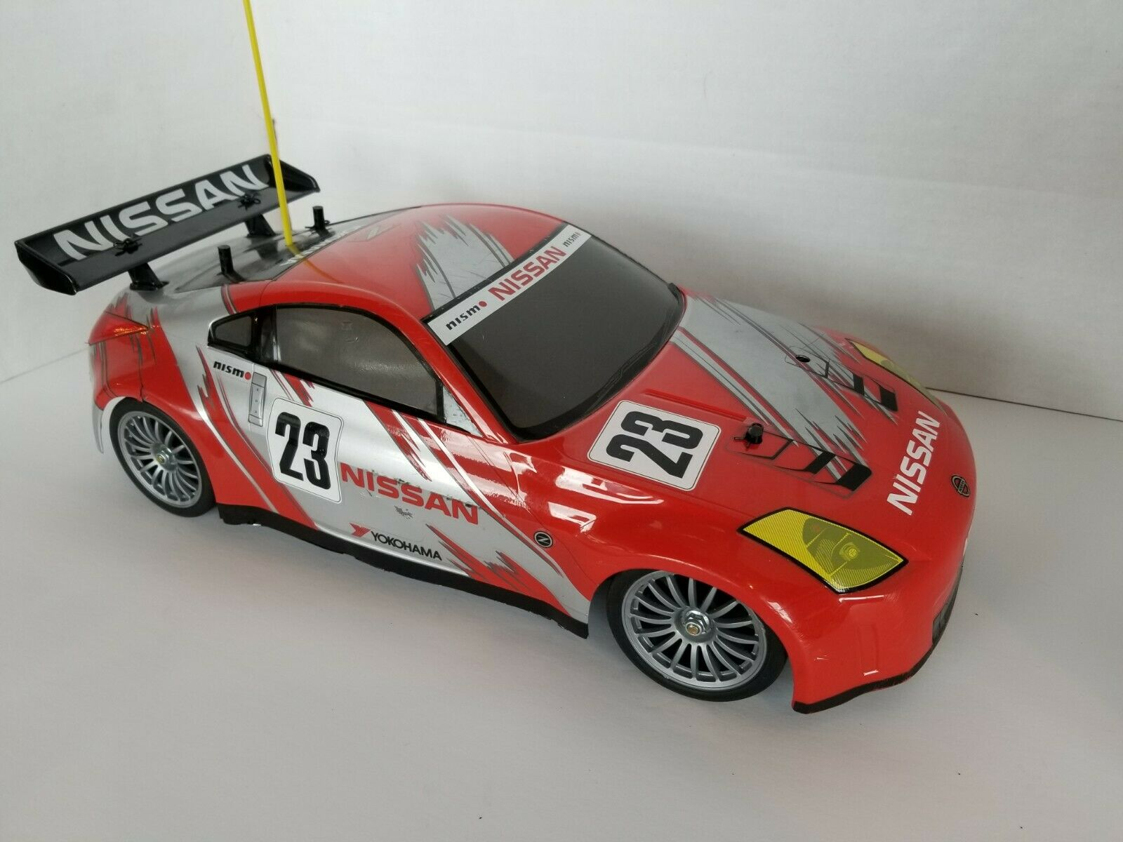 Tamiya TGS Nitro Glow 1/10 RC Race Car with radio and access