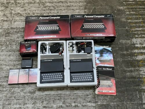 Lot of 2 Timex Sinclair 1000 with 16k Ram Module UNTESTED
