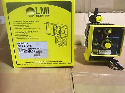 Lmi Metering Pump C771-26s 10 Gph 80 Psi Pvc Manualpulse Control