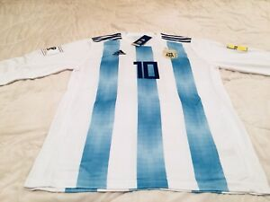 Argentina Messi Home Long Sleeve World Cup soccer jersey