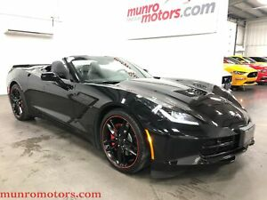 2016 Chevrolet Corvette 3LT Nav Suede Convertible Low KMs