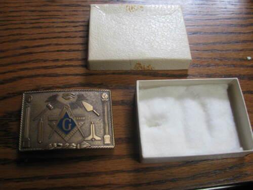 1979 Masonic Mason Belt Buckle  Harry Klitzner    # UP C