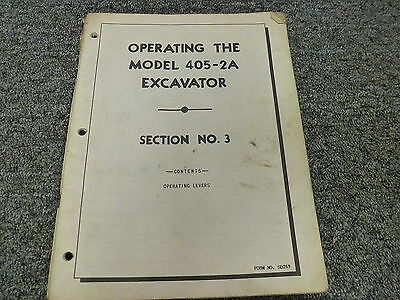 Koehring 405-2a Excavator Crawler Crane Owner Operator Maintenance Manual Sd269