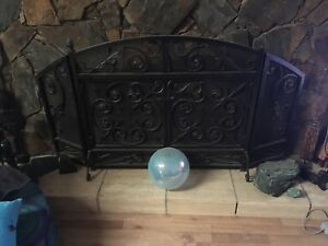 Wrought iron fire place screen