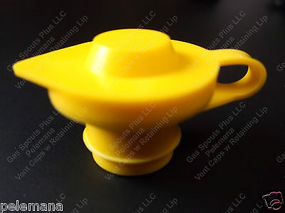 Universal Yellow Gas Diesel Water Fuel Can Jerry Jug Air Vent Retaining Lip Cap