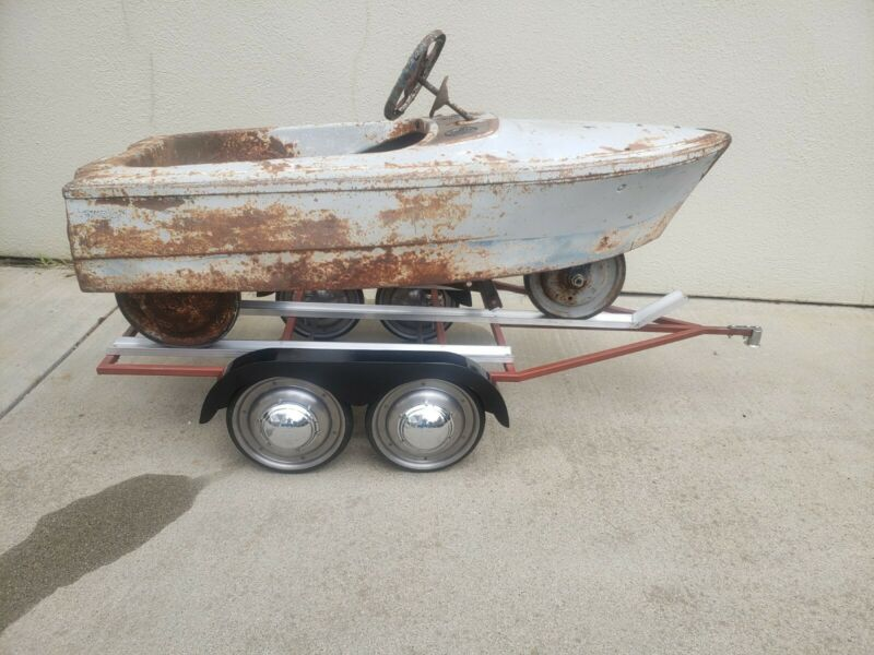 Pedal car boat and trailer