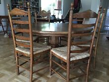 Shack Furniture round dining table with 6 chairs Neutral Bay North Sydney Area Preview