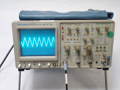 Tektronix 2465b 400 Mhz Analog 4 Channel Oscilloscope Opt 050910 Tested