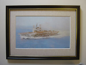 David-Shepherd-print-The-Ark-Royal-Turning-Into-The-Wind-FRAMED