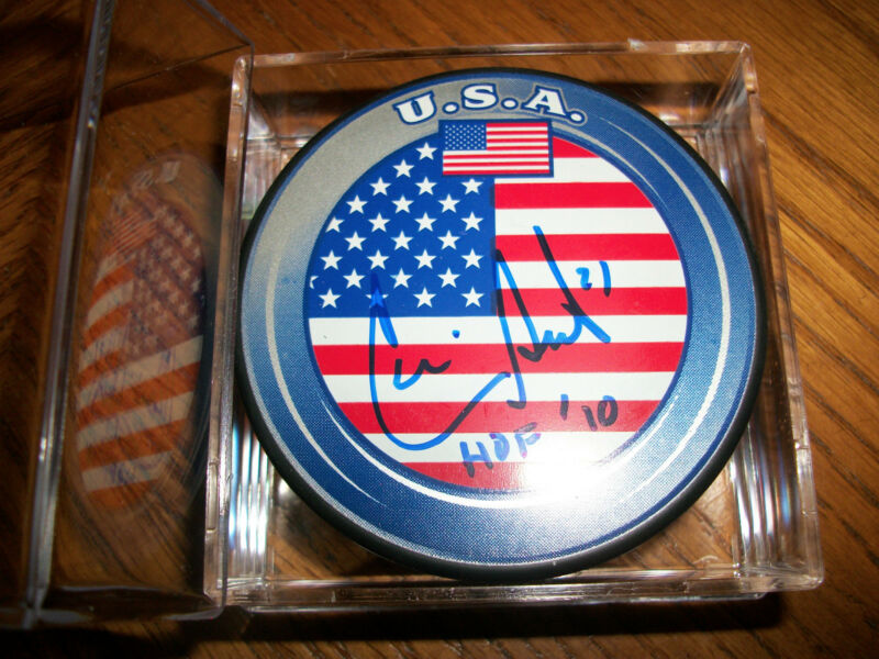 Cammi Granato U.S.A. Autographed Hockey Puck w/Case - Hall of Fame 2010