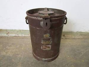 C38066 Vintage Metal SIMPSON & SON 3 Gallon Milk Can Mount Barker Mount Barker Area Preview