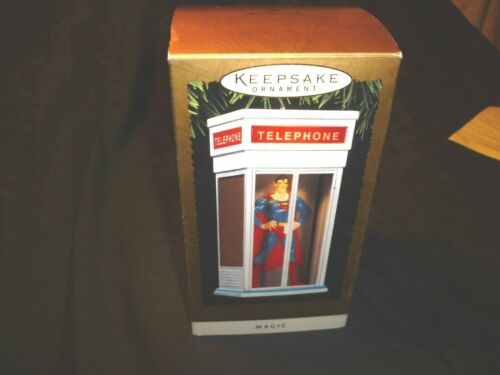 Superman Hallmark Magic Keepsake Ornament 1995 Telephone Booth Clark Kent SKU 74