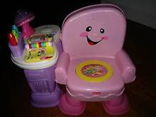 PINK and GREEN Fisher Price Song/Story Learning Chairs - RRP$40ea East Brisbane Brisbane South East Preview