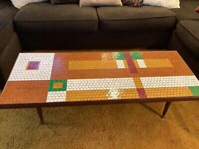 Green Weinberg Eames Atomic Era Vintage-Style FREE SHIPPING Modern Mosaic Tile Hairpin End Table Mid Century Modern