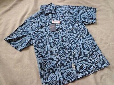 NWT Blue Surf Cotton Short Sleeve Men's Buttondown NAUTICA Summer Shirt M