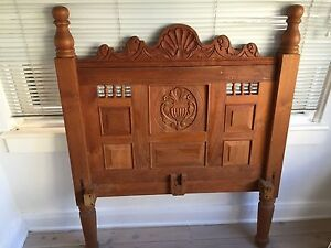 Hand carved teak single bedroom 3 piece setting Kirribilli North Sydney Area Preview