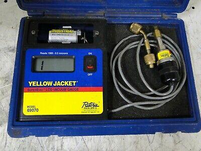 Ritchie Yellow Jacket 69070 Superevac Lcd Full Range Vacuum Gauge Nsmp