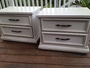 2 x Rustic White Bedside tables Bayview Pittwater Area Preview
