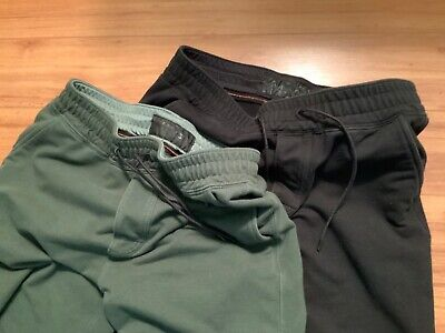 ABERCROMBIE & FITCH LOT of 2  Mens Ankle Zip JOGGERS Pants size S